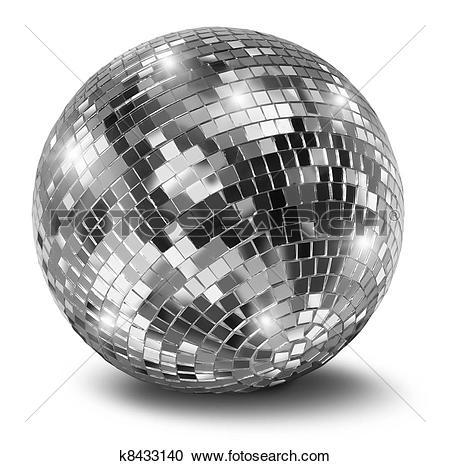 Stock Photography of Silver disco mirror ball k8433140.