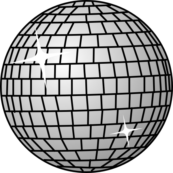 Disco Ball clip art Free vector in Open office drawing svg ( .svg.