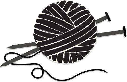 ball of yarn silhouette.