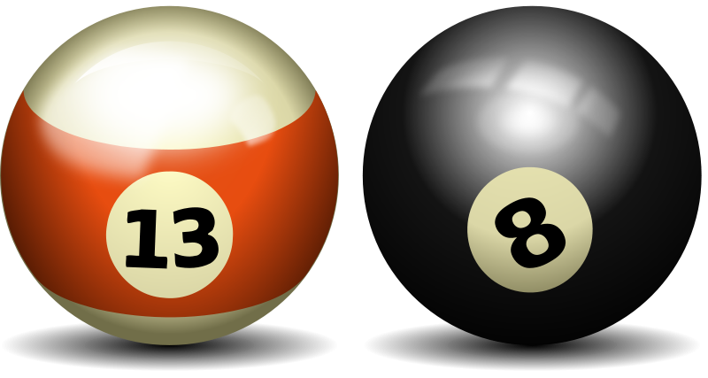 8 Ball Pool Clip Art.
