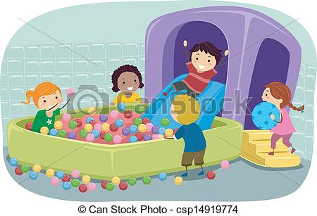 Ball pit clipart.