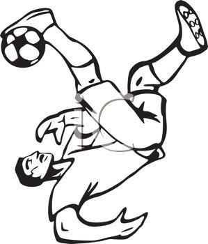 Black and White Soccer Player Passing the Ball.