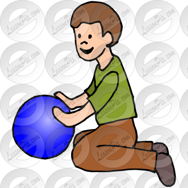Roll Ball Picture for Classroom / Therapy Use.