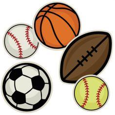 Sports balls clip art.