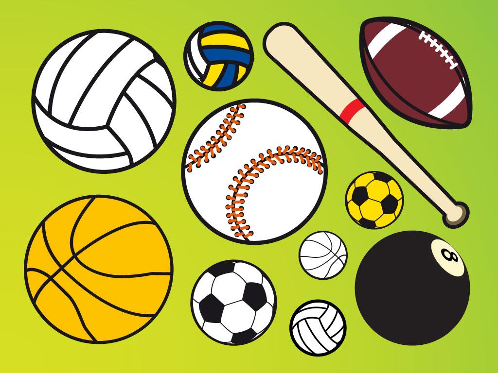 Clipart sports balls logo.