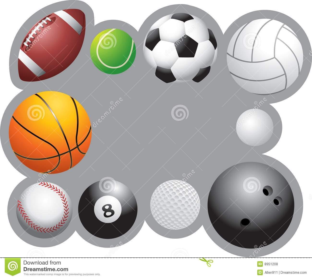Sport Ball Border Clipart.