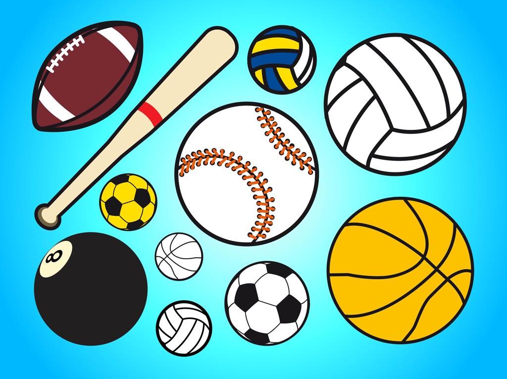 Sports balls clipart.