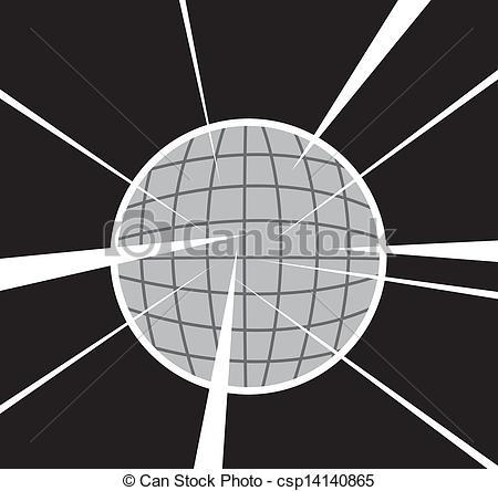 Clip Art Vector of Disco Ball.