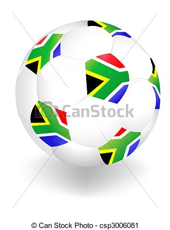 Vector Clip Art of 2010 FIFA World Cup South Africa ball.