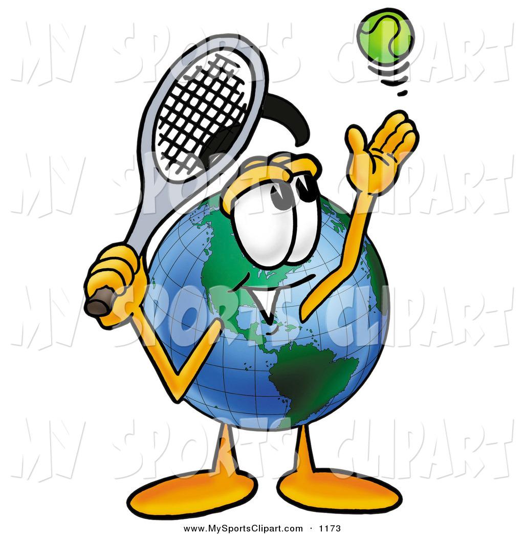 Tennis world ball clipart.