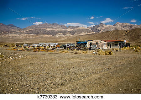 Stock Photo of old Ghost town and former Gold Town of Ballarat.