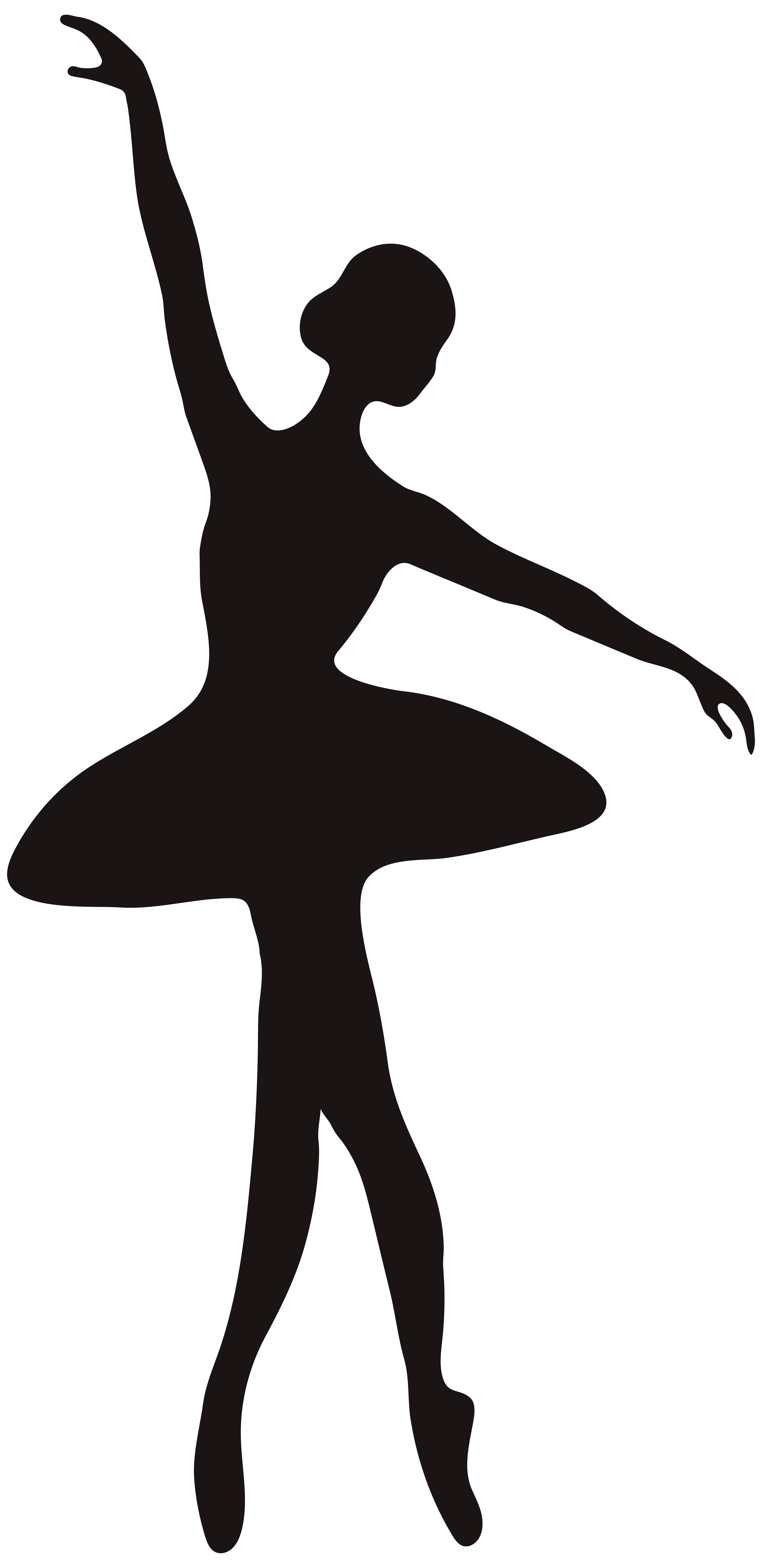 Ballerina Silhouette PNG Clip Art Image.