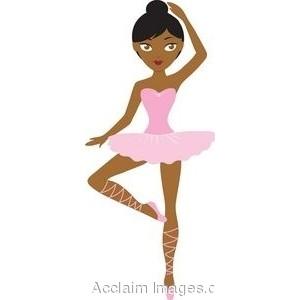 Cartoon ballerina clipart.