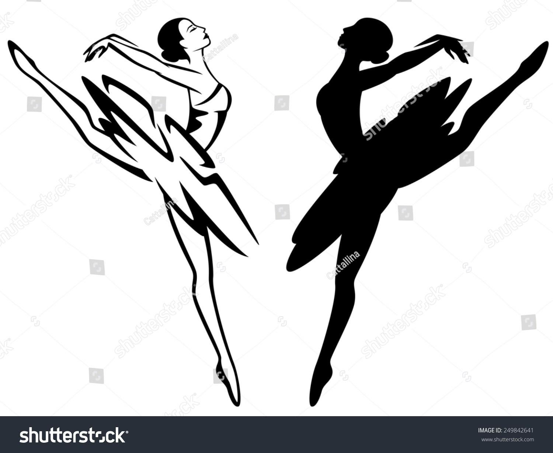 Ballerina clipart black and white 4 » Clipart Portal.