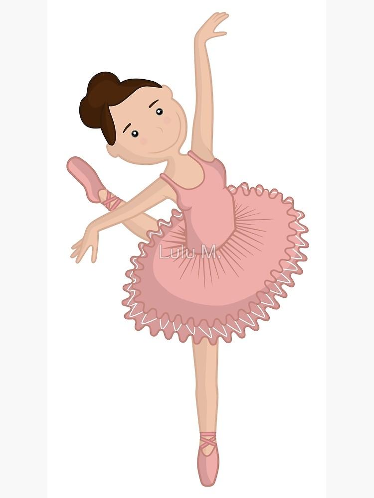 Cute ballerina in pink tutu / Sweet ballet dancer clip art.
