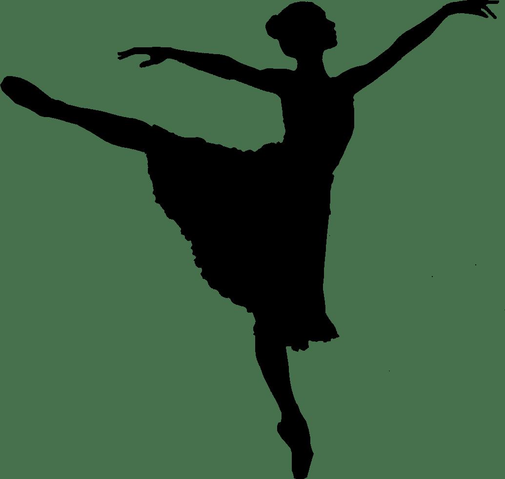 Ballet Dancer Silhouette transparent PNG.