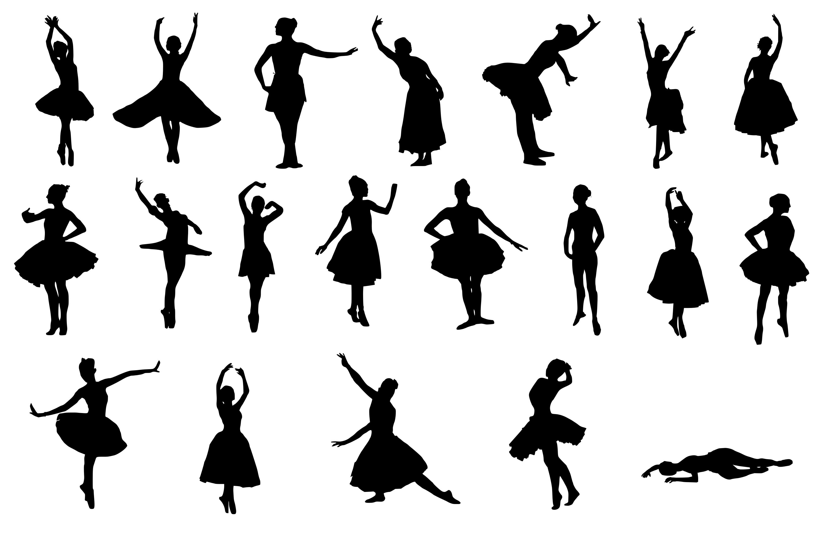 20 Ballerina Silhouette (PNG Transparent).