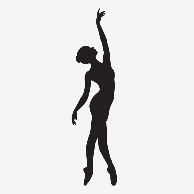 Ballerina Silhouette, Web, Banner, Text PNG and Vector with.