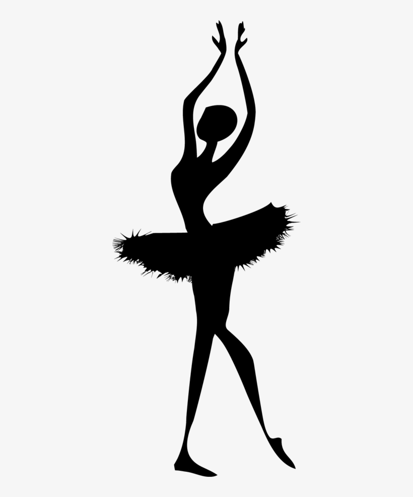 Ballerina Dancer Silhouette Sticker.