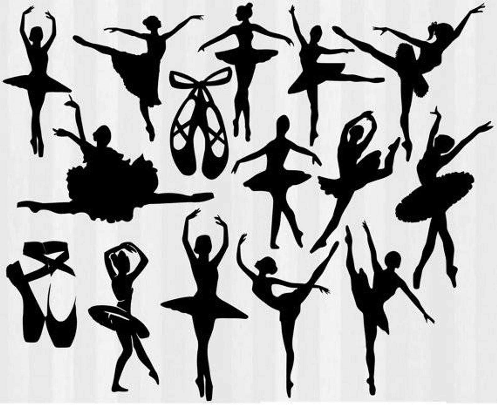 Ballet Svg File Cutting Template.