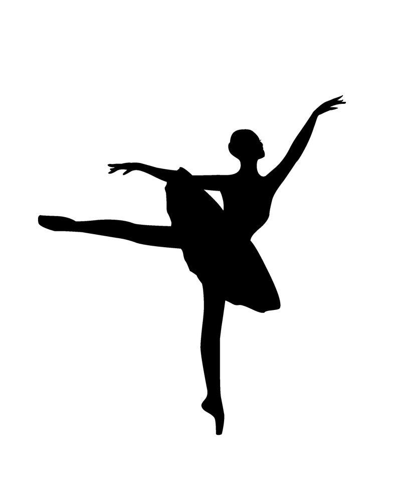 Ballet Clipart #1 Digital Printable Vintage Ballerina.