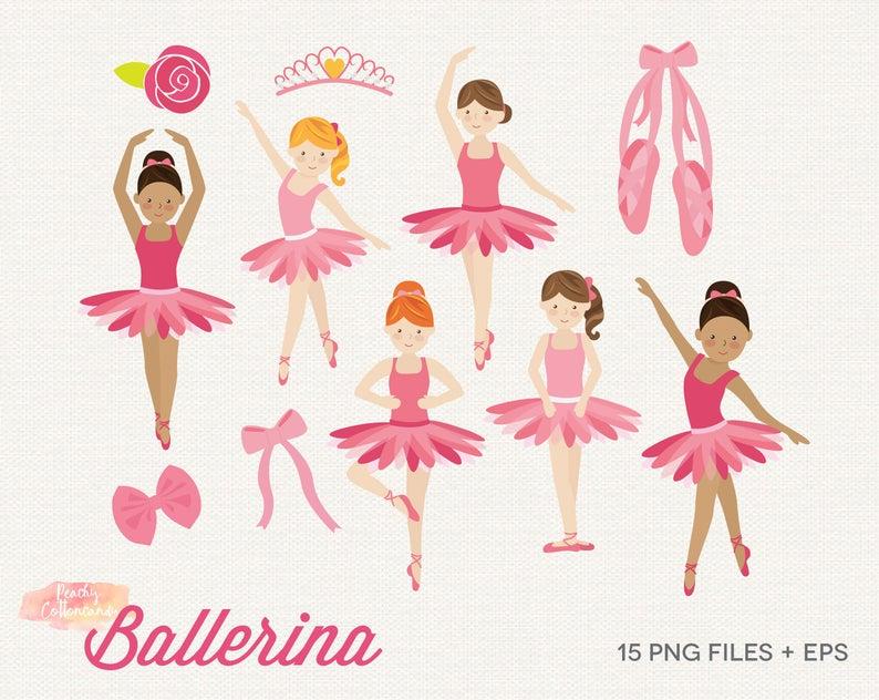 BUY 2 GET 1 FREE Ballerina Clipart.