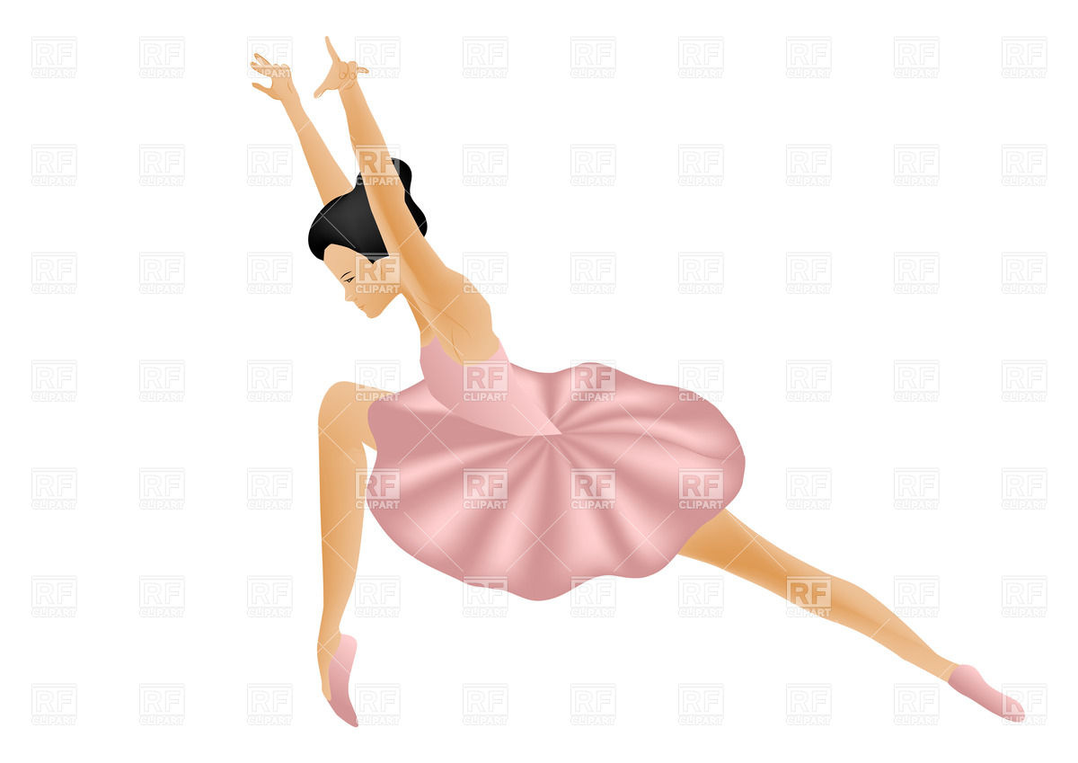 Isolated woman ballet dancer Stock Vector Image.