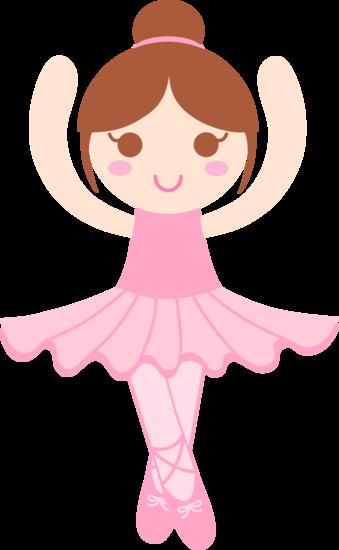 Cute Ballerina Clip Art.