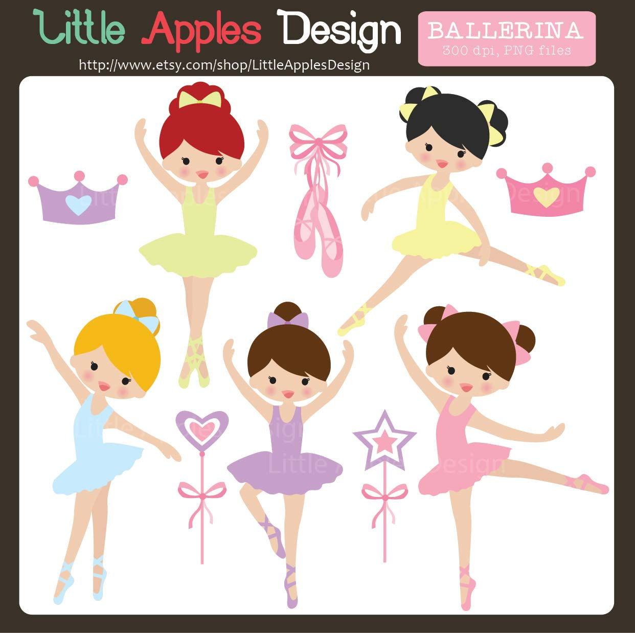 Ballet shoes clipart.