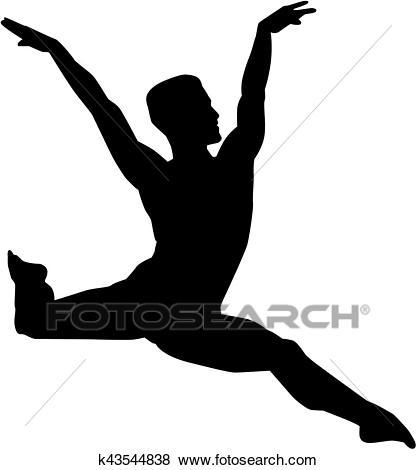 Male ballet dancer Clip Art.