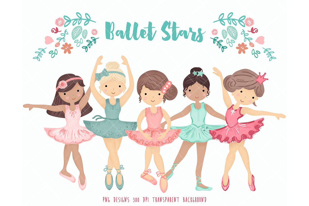 Ballerina Ballet Dancers Clipart ~ Illustrations ~ Creative Market.