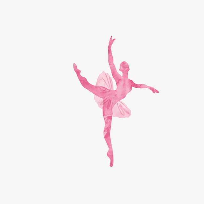 Watercolor Ballet Girl, Watercolor Clipart, Ballet Clipart.
