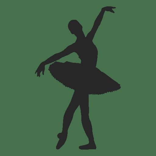Ballet dancer open arms pose.