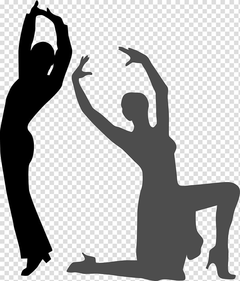 Silhouette Dance, Dance silhouette material transparent.