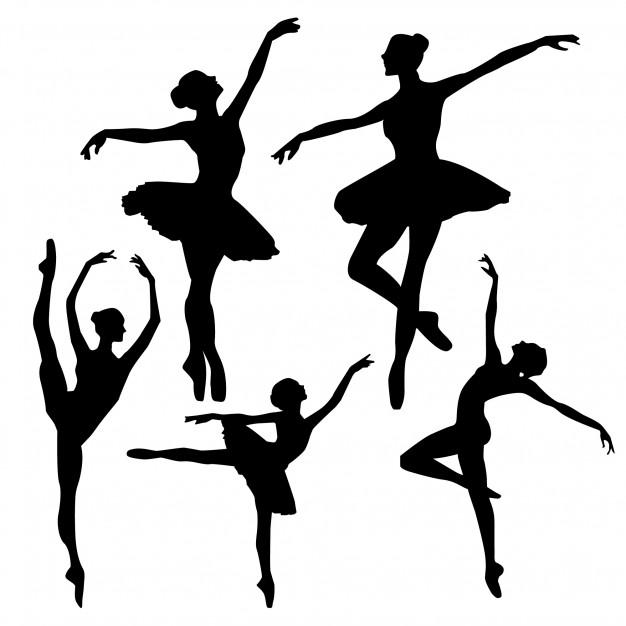 Ballet silhouettes Vector.