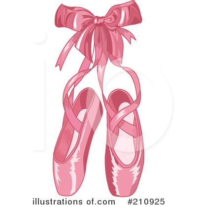 Ballet Slippers Clipart #210925.
