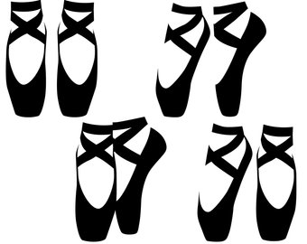 Ballet Slippers Silhouette at GetDrawings.com.