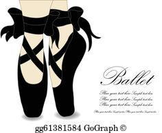 Ballet Shoes Clip Art.