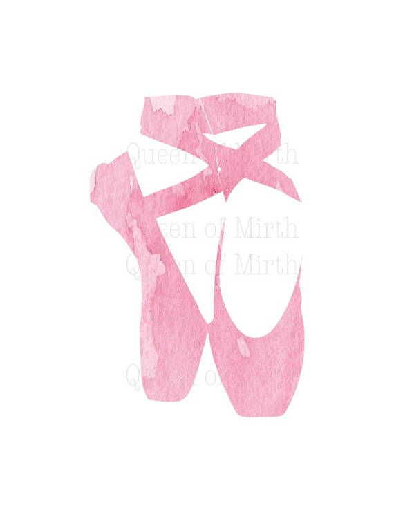 ballet shoes pictures clip art #11