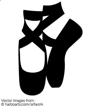 Download : Ballet Shoes Silhouette.