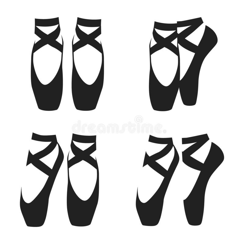 Ballet Shoes Stock Illustrations.