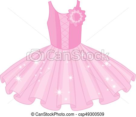 Vector Soft Pink Ballet Tutu Dress.