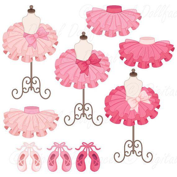 Ballerina Clipart, Tutu / Ballet Clip Art, Ballerina Party.