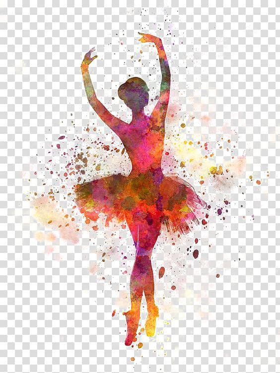 Ballet Dancer Watercolor painting, Swan Dance, woman doing.