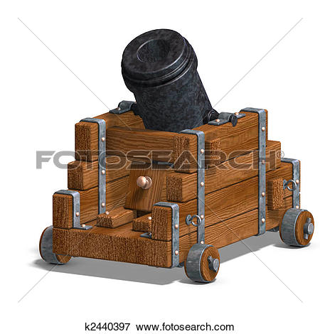 Stock Illustration of ballistic mortar cannon k2440397.