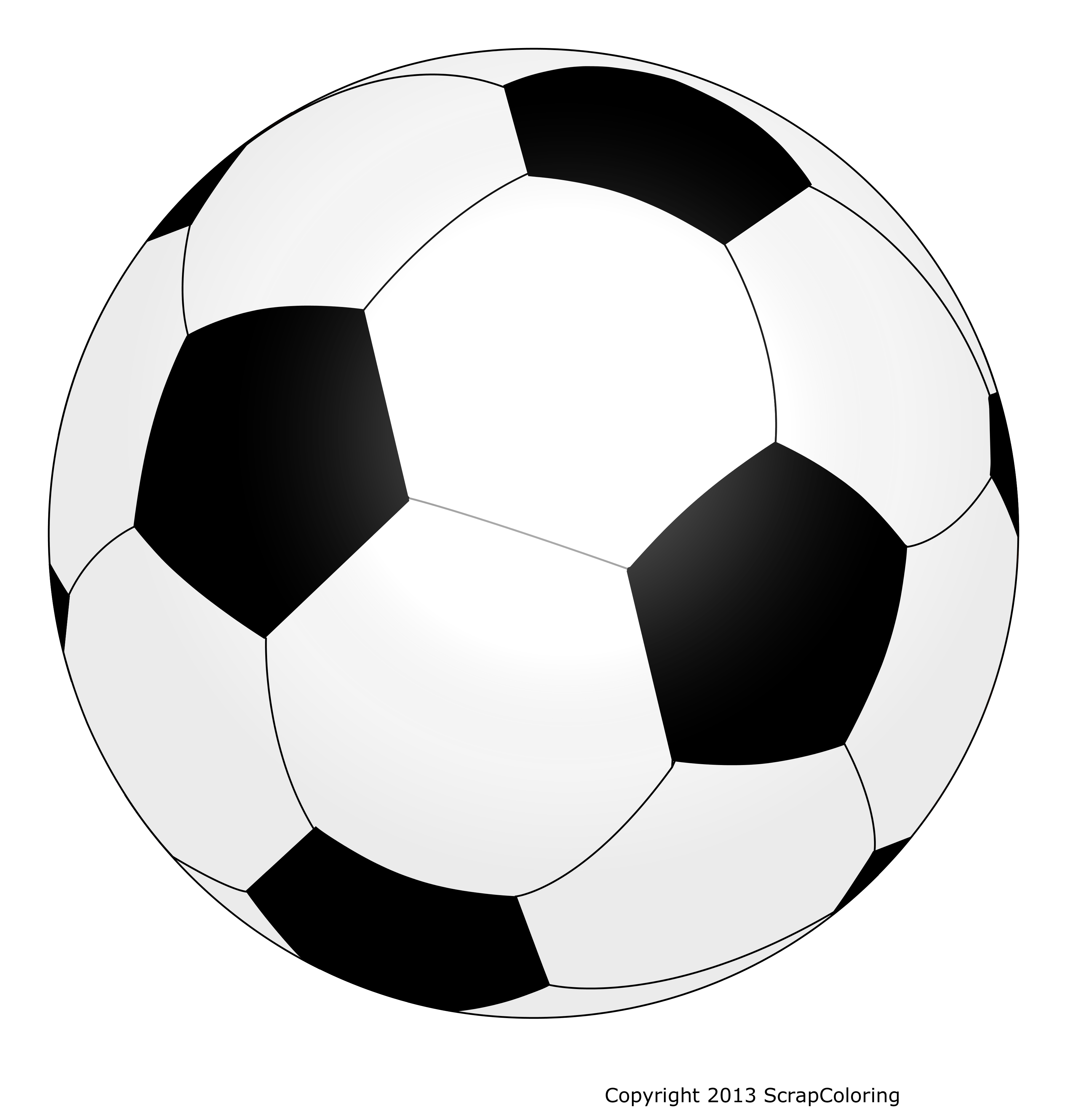 Ballon de foot dessin png 6 » PNG Image.
