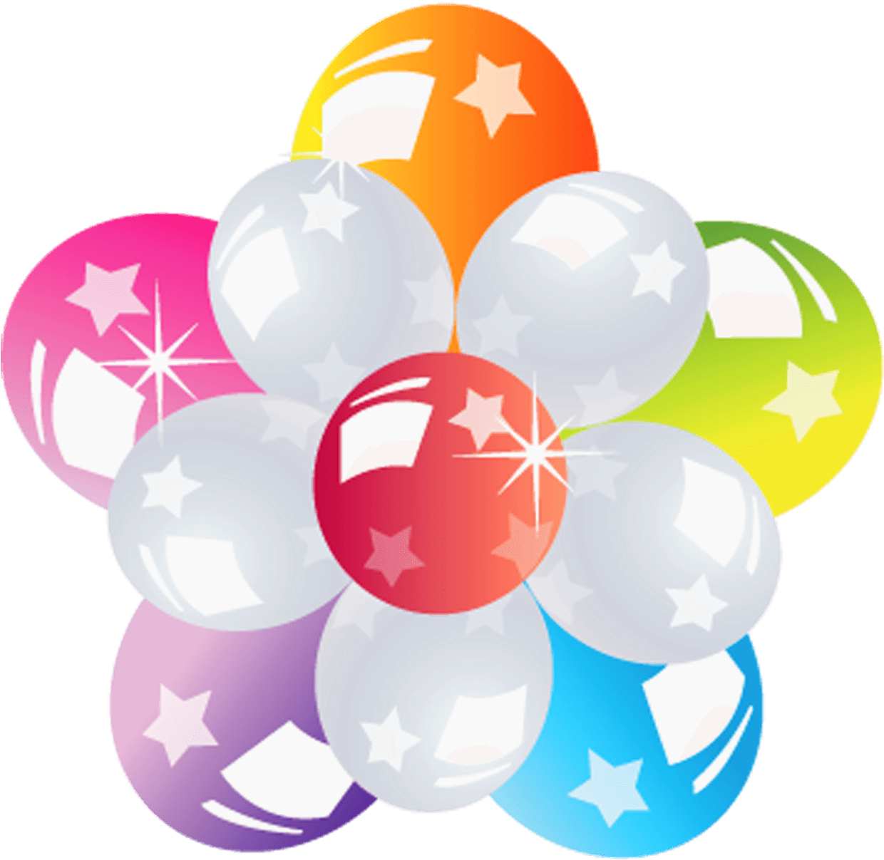 Flower Of Balloons transparent PNG.