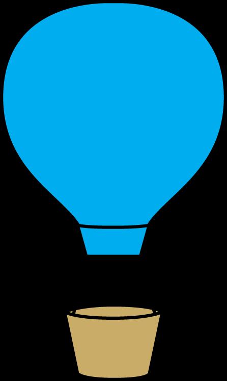 Blue Hot Air Balloon.