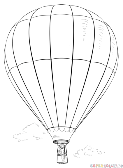 How to draw a Hot Air Balloon.