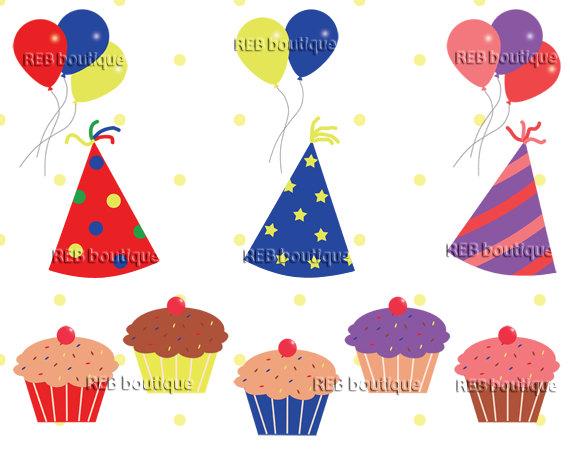 Birthday hat birthday clipart clip art party hats balloons.